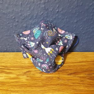 Rockets to space cotton face mask handmade by Ooh Betty clothing