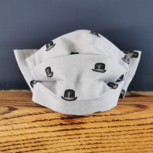 bowler hat cotton face mask by ooh betty clothing