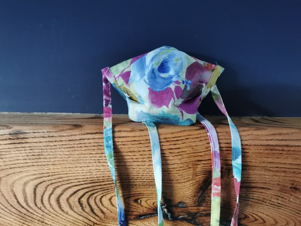 watercolour floral cotton face mask by ooh betty clothing